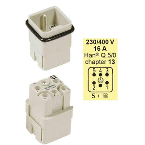 Harting Plugs - Han Q5 And 4A Insert For 3A Hood