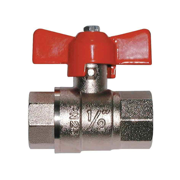 Hose Fittings - Ball Valve- T Handle, Female/Female Thread