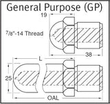 Nozzle Tip - GP 38mm Long Nozzle Tip