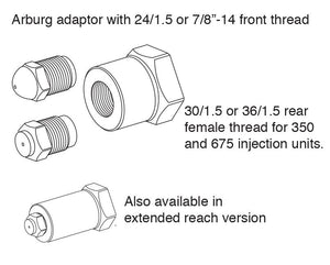 OEM Nozzle Tips - Arburg Type Nozzle Adaptor (Female Thread)