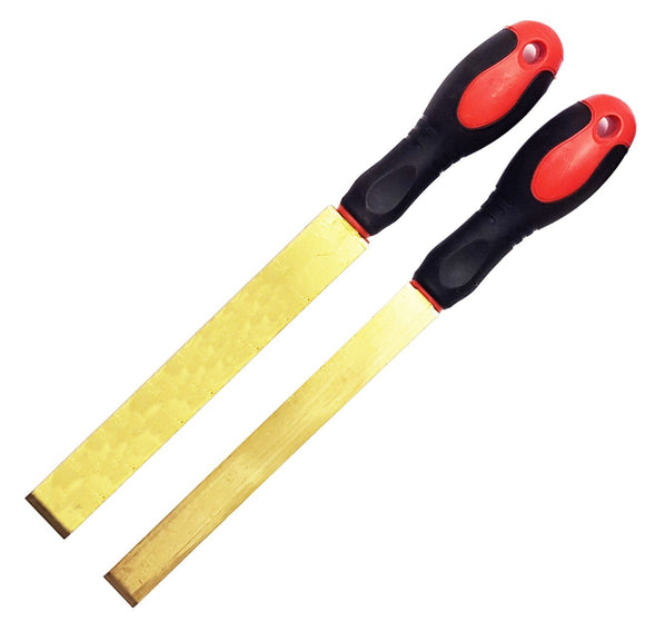 Pointed Brass Mould Tools - Straight Flat Brass Scraper