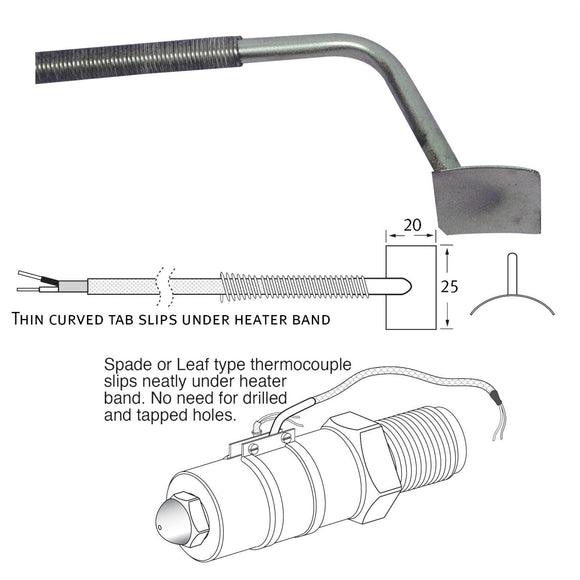 Standard Thermocouple - Spade (Leaf Type) Thermocouple