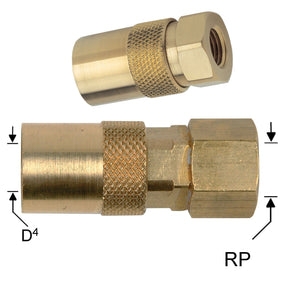 Waterline - DME Socket Couplings With Female Thread