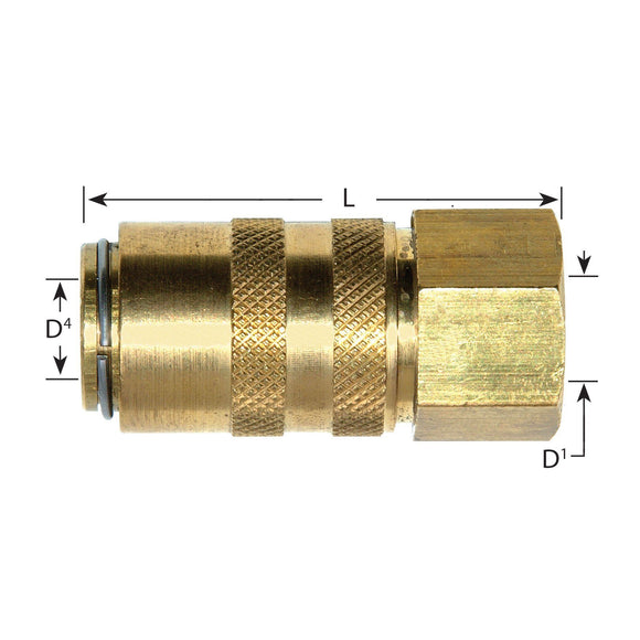 Waterline - Euro Series Compatible Socket Couplings With Female Thread