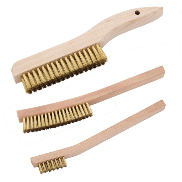 Workshop Supplies - Hand Brushes- Brass And Steel