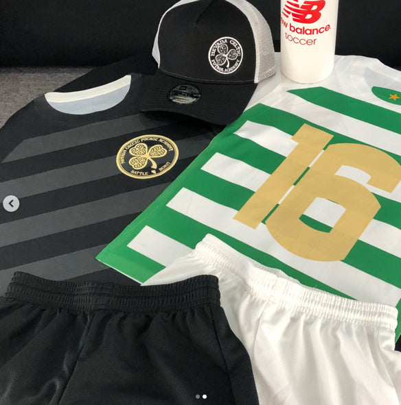 Green Brigade home and away uniforms