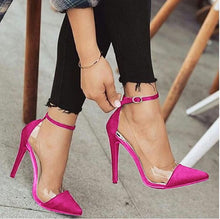 Load image into Gallery viewer, jelly clear  sexy women thin high heels ankle buckle heels - Thj Fashion Boutique