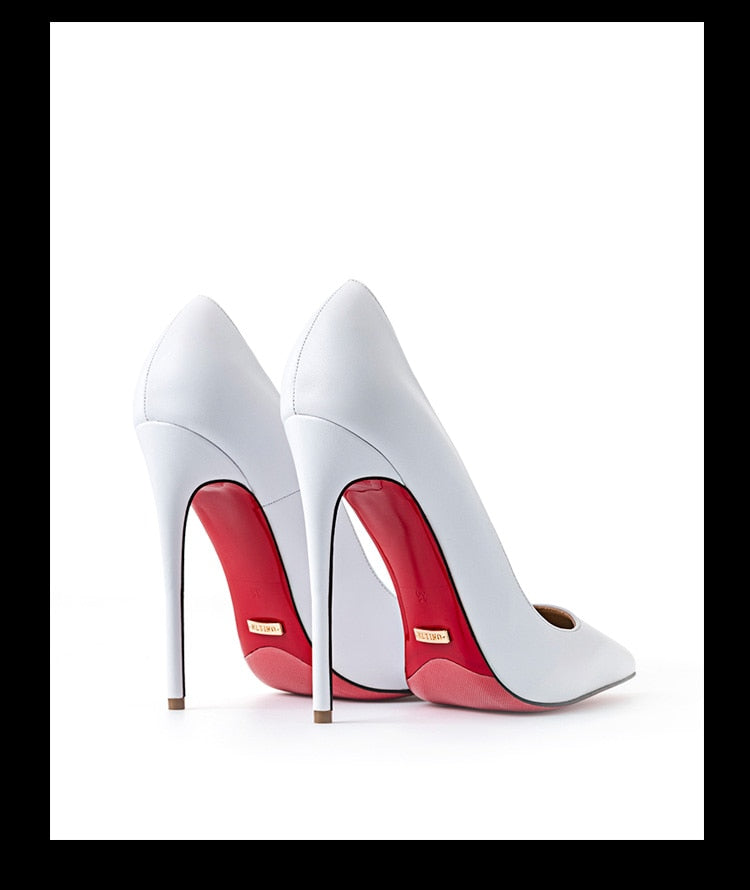 High Quality Sexy Women Pumps Pointed Toe shoes Thin High Heels Red Bottom Stilettos