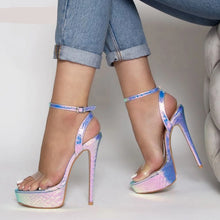 Load image into Gallery viewer, High Heels Gladiator Platforms Peep Toe Pumps - Thj Fashion Boutique