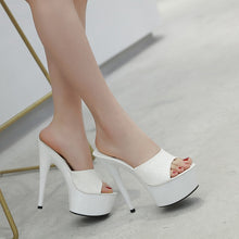 Load image into Gallery viewer, 6 Color Woman Sexy High-heeled Platform Slippers Waterproof