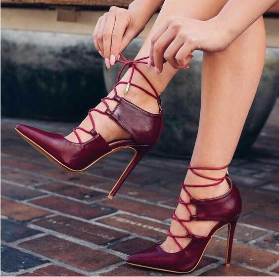 High Heels Ankle Strap  Lace-up