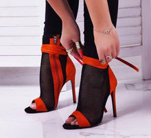 Load image into Gallery viewer, High Heels  Cross-tied Open Toe Heels - Thj Fashion Boutique