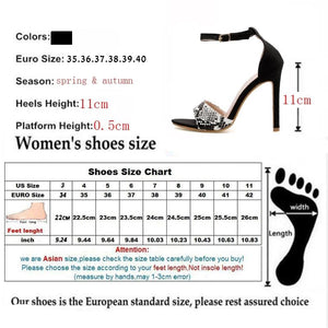 Women Buckle Strap Serpentine Cover Heel Thin High Heels Round Toe Black Heels
