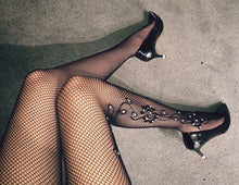 Load image into Gallery viewer, Glitter Rhinestones Sexy Thigh High Pantyhose - Thj Fashion Boutique