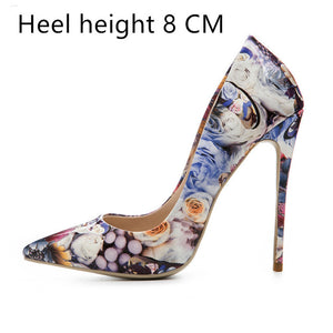 Woman Patent Leather High Pointed Toe Sexy Pumps - Thj Fashion Boutique