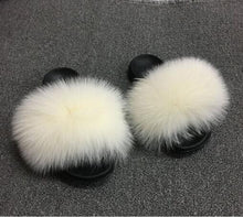 Load image into Gallery viewer, Women's Plush Slippers Indoor Furry  Flip Flops Fluffy Sandals - Thj Fashion Boutique