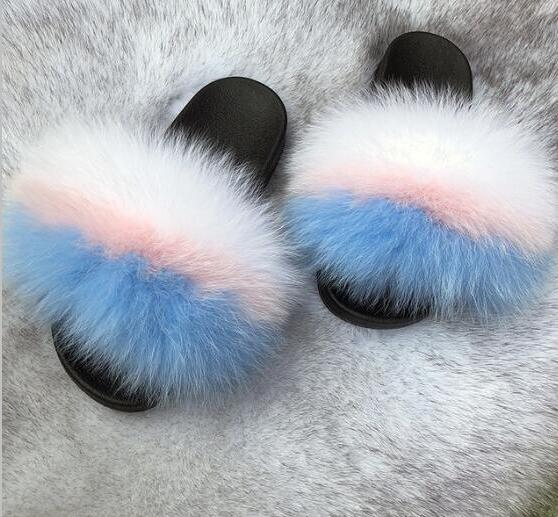 Women's Plush Slippers Indoor Furry  Flip Flops Fluffy Sandals - Thj Fashion Boutique