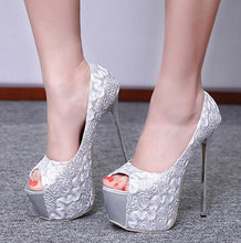 Load image into Gallery viewer, Classics Women Platform Peep Toe  Ultra High Heels