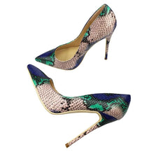 Load image into Gallery viewer, Top Quality Sakura Snake Printing Women High Heels