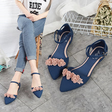 Load image into Gallery viewer, Casual  Soft  Slip Resistance Sandals Flat Pointy Toe Women Flats Shoes
