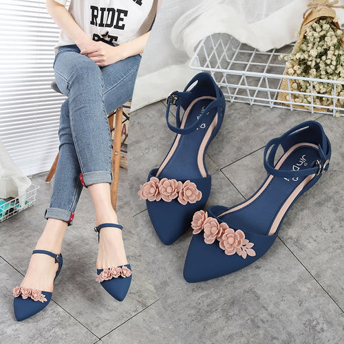 Casual  Soft  Slip Resistance Sandals Flat Pointy Toe Women Flats Shoes