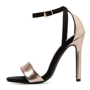 Ankle Buckle Strap Sexy Open Toe Classics High Heels  Shoes