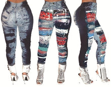 Load image into Gallery viewer, tie dye jeans high waist