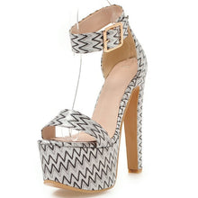 Load image into Gallery viewer, Genuine Leather Extreme High Heel Platform Sandals - Thj Fashion Boutique