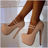 Comfortable platform peep-toe shoes high heels