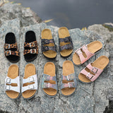 Fashion Cork  Casual  Buckle Strap Sandals Sanders