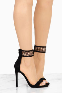 Mesh Thin Heel Open Toe Stiletto Heels Dress Shoes