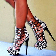Load image into Gallery viewer, Platform  Peep Toe Cut Out Sandals, Supper High  handmade - Thj Fashion Boutique