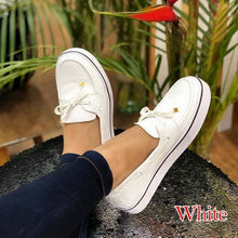 Load image into Gallery viewer, Women Casual Canvas Shoes Lace-Up Flat