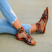 Load image into Gallery viewer, Women Flat Gladiator Roman Sandal - Thj Fashion Boutique