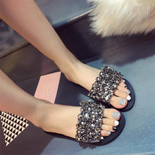 Load image into Gallery viewer, Summer Rhinestone Flip Flop Sandals - Thj Fashion Boutique