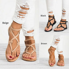 Load image into Gallery viewer, Gladiator Sandals For Women Summer Shoes Female Beach Flat Sandals - Thj Fashion Boutique