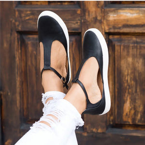 Women Closed Toe Flat Shoes Casual Ladies Platform Footwear - Thj Fashion Boutique