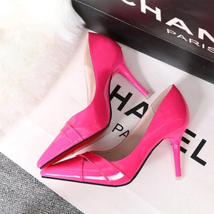 High Heels Women Pumps  Patent Leather Pointed  Dress Pumps - Thj Fashion Boutique