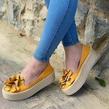 Load image into Gallery viewer, Women Flats Slip On Leather Suede Ladies Loafers Casual Floral Shoes