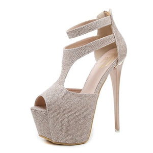Women High Heel Sandals Sexy Stripper  Platform  Pumps
