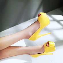Load image into Gallery viewer, Super High  Platform Peep Toe Woman Pumps