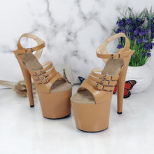 Load image into Gallery viewer, Leecabe shoes 8 inch High Heel Sandals Platforms Party Shoes Sexy Pole Dance Shoes Ladies Shoes