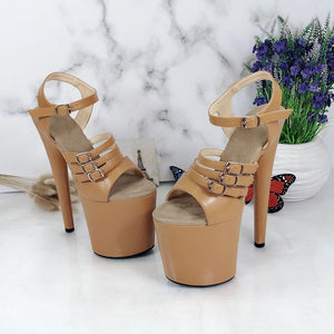 Leecabe shoes 8 inch High Heel Sandals Platforms Party Shoes Sexy Pole Dance Shoes Ladies Shoes