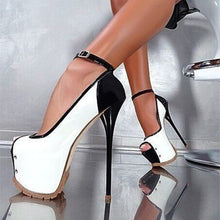 Load image into Gallery viewer, Super Sexy Multi-colors Platform Peep Toe Thin Heels Pumps - Thj Fashion Boutique