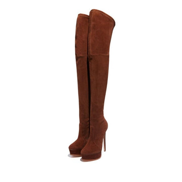 Thigh High Woman Over the Knee Platform Thin High Heels Boots