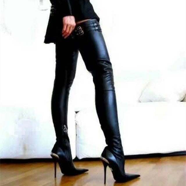 Women Popular Thigh High Boots Over-the-knee Heels Long Boots