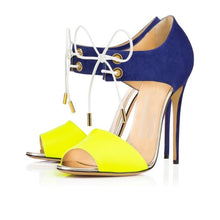 Load image into Gallery viewer, Original Intention Women  Open Toe Thin Heels - Thj Fashion Boutique
