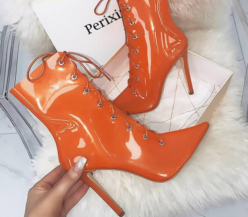 Transparent Boots  Clear  heels - Thj Fashion Boutique