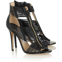 Load image into Gallery viewer, Promotion Top Quality High Heel Zipper  Sandal - Thj Fashion Boutique