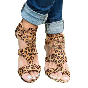 2019 new Summer Wedges Leopard Casual Shoes - Thj Fashion Boutique
